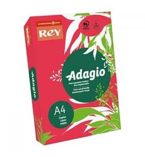 Papel Fotocopia Adagio(cd22) A4 80gr Vermelho Intenso 1x500