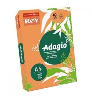 Papel Fotocopia Adagio(cd12)A4 80gr(Laranja Fluresce)1x500Fl