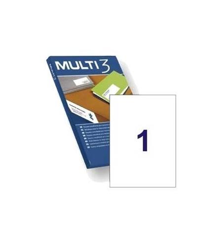 Etiquetas 210x297 Multi3 100 Folhas A4 100un