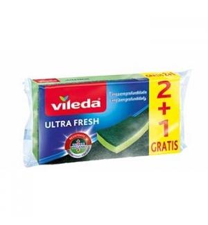 Esfregão Esponja Vileda Ultra Fresh 2+1 Grátis