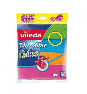 Panos Microfibras Colors Vileda 30x30cm Sortido 4un