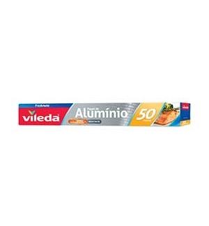 Rolo Aluminio Alimentar Vileda 50M - 1un