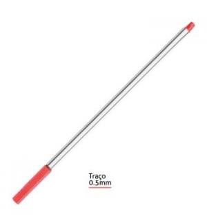 Marcador fineliner 0,5mm smartd vermelho pack 12 uni