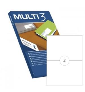 Etiquetas 210x148 Multi3 100 Folhas A4 200un