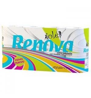 Rolo Toalhas Mão Rolo Renova Ole- Branco-(Pack 4)
