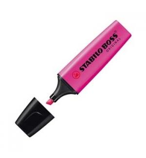 Marcador Fluorescente Stabilo Boss Rosa 70/56 Cx 10un