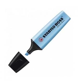 Marcador Fluorescente Stabilo Boss Azul 70/31 Cx 10un