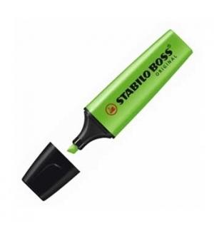 Marcador Fluorescente Stabilo Boss Verde 70/33 Cx 10un