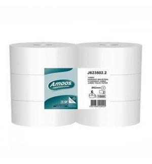 Papel Higienico (Jumbo) 350mts 2Fls Amoos-6un