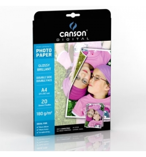 Papel 180gr Fotografico Canson Perform Gloss A4 p/InkJet 20F
