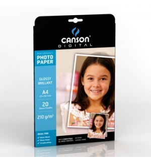 Papel 210gr Fotografico Canson Perform Gloss  A4 p/InkJet 20
