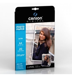 Papel 210gr Fotografico Canson Perform Satin A4 p/InkJet 20F