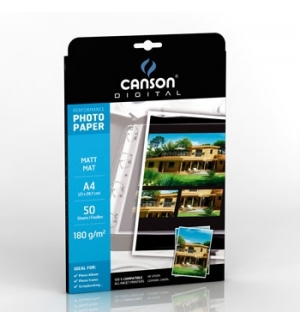 Papel 180gr Fotografico Canson Perform Mate  A4 p/InkJet 50F