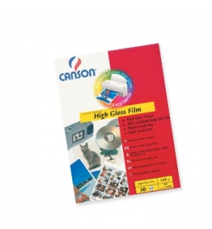 Papel Fotog Canson Film Polyest 130g A4 p/InkJet 10F Branco