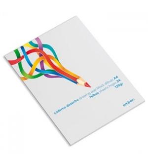 Caderno Desenho Colado Ambar School A4 120gr 24Fls