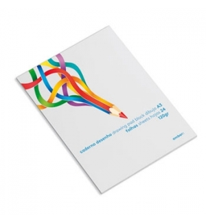 Caderno Desenho Colado Ambar School A3 120gr 24Fls