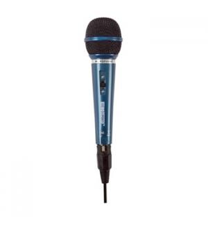 Microfone Dinamico Alta Sensibilidade azul cabo 3 mt