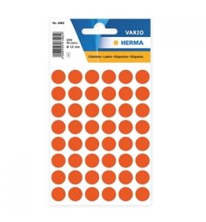 Etiquetas Redondas 12mm Vermelho Herma1862 240un