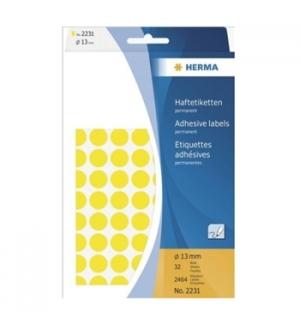 Etiquetas Redondas 13mm Amarelo Herma2231 2464un