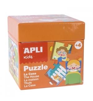 Jogo Puzzle Apli Kids Tema A Casa 24 Peças