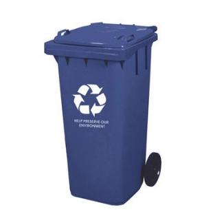 Contentor Plastico 2 Rodas c/Tampa 100 Litros Azul