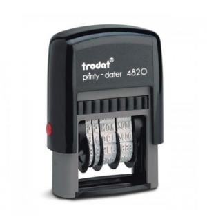 Datador 4mm Autotintavel Trodat 4820 Almofada Preto