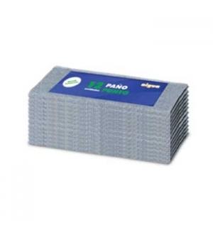 Pano Chao Debruado 34x38cm Cinza - Pack 12un