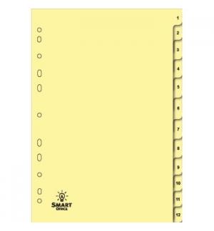 Separadores A4 Cartolina Numerados (1 a 12)