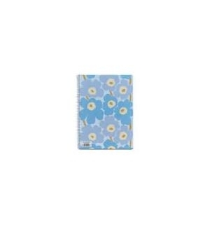 Caderno Espiral Dupla A4 Marimekko Liso 80Fls Azul -1un