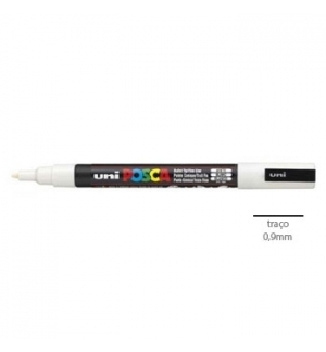 Marcador Uniball Posca PC3M 09mm Branco -1un
