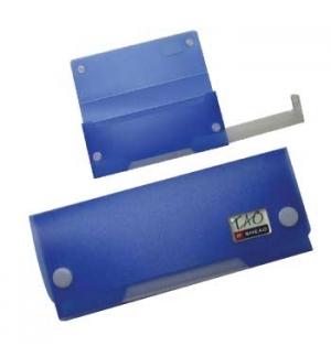 Estojo Plastico Smead c/compartimento inferior Azul