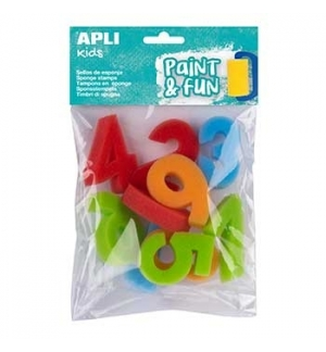 Esponja Carimbo 123 Apli Kids Paint & Fun 10un