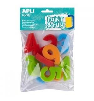 Esponja Carimbo 123 Apli Kids Paint&Fun10un