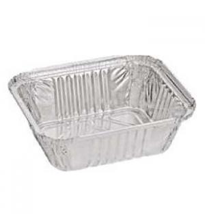 Embalagem Alimentar 500ml Alumínio Quadrada c/Tampa  100un