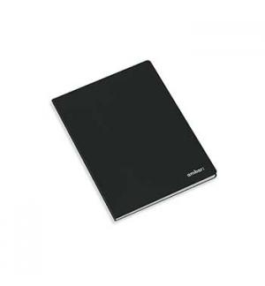 Caderno Agrafado Capa Preta Ambar A5 Quadriculado 80Fls