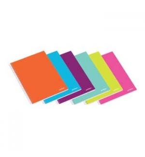 Caderno Espiral Ambar School A5 Quadriculado 80Fls