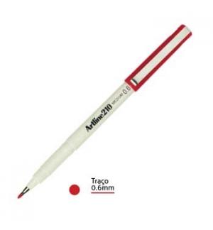Marcador Medio 0.6mm Artline 210 Vermelho-1un