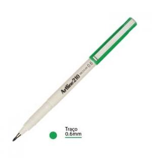 Marcador Medio 0.6mm Artline 210 Verde-1un