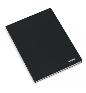 Caderno Agrafado Capa Preta Ambar A4 Pautado 80Fls