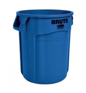 Contentor 76Litros s/Tampa Redondo Brute Azul