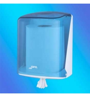 Dispensador Toalhas Rolo Extracao Central Azul