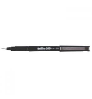 Marcador Fino 0.4mm Artline 200 Preto Cx 12un