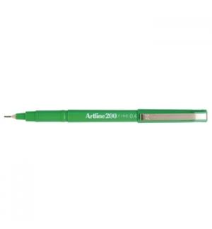 Marcador Fino 0.4mm Artline 200 Verde Cx 12un