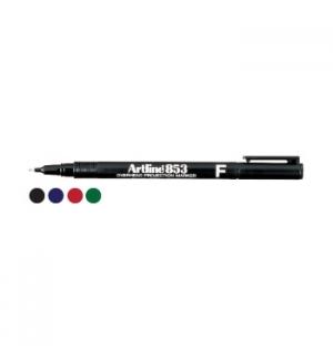 Marcador Perm. Fino (CD/Acetatos) Artline 853 Preto-Cx12un