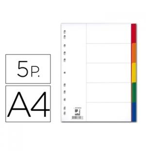 Separadores A4 Plastico - 5Und (5Cores)