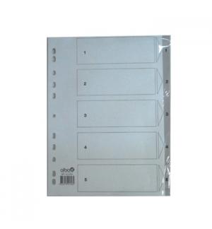 Separadores A4 Plastico Numerados (1 a 5)