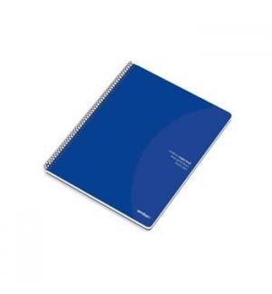 Caderno Espiral Ambar C/Azul A5 Pautado 70gr 80Fls