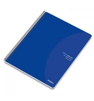 Caderno Espiral Ambar C/Azul A4 Pautado 70gr 80Fls