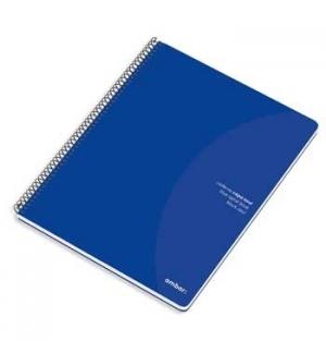 Caderno Espiral Ambar C/Azul A4 Liso 70gr 80Fls