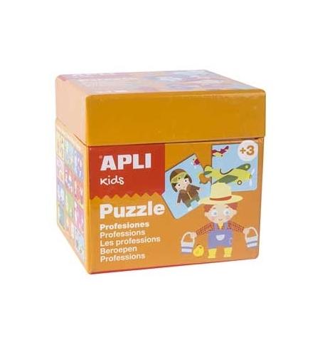 Jogo Puzzle Apli Kids Tema 12 Profissões 24 Peças